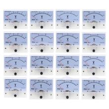 DC Analog Panel Volt Voltage Meter 85C1 Voltmeter Gauge 20V 30V 50V 75V 150V 250V 300V 400V 450V 500V Mechanical Voltage Meter цены