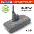 Sparkole 21 6 V 3600mAh литий-ионная аккумуляторная батарея для dyson V8 абсолютный  пушистый  животное литий-ионный пылесос батарея