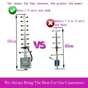 Image 2 - Zqtmax 13dbi yagi antena para 2100mhz 3g repetidor 2g 4g 1800mhz amplificador de sinal móvel umts lte dcs impulsionador de sinal + 10m cabo