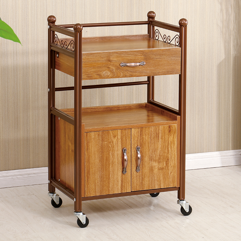 Beauty Cart European Style Three-layer Drawer Beauty Salon Manicure Hair Care Trolley Tool Cart Foot Therapy Store Shelf