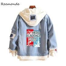 Manteau de printemps pour filles et garçons, costume Cosplay de lanime My Hero Academia Shoto Todoroki attaque sur le destin de Titan, Denim bleu, veste à capuche