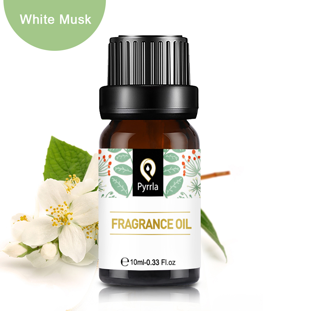 Pyrrla 10ml White Musk Fragrance Oil For Aromatherapy Humidifier Diffuser Fresh Air Rosemary Sandalwood Lily Aroma Essential Oil