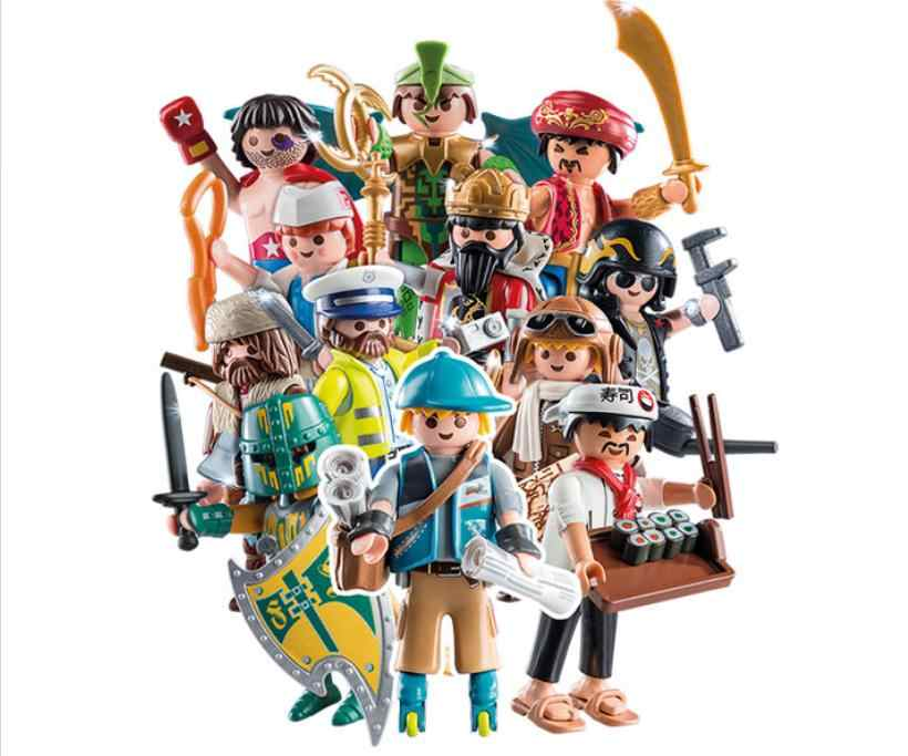S13 S15 S16 7.5CM high quality of the original Playmobil Blind bag Girls and boy Polly pocket building block