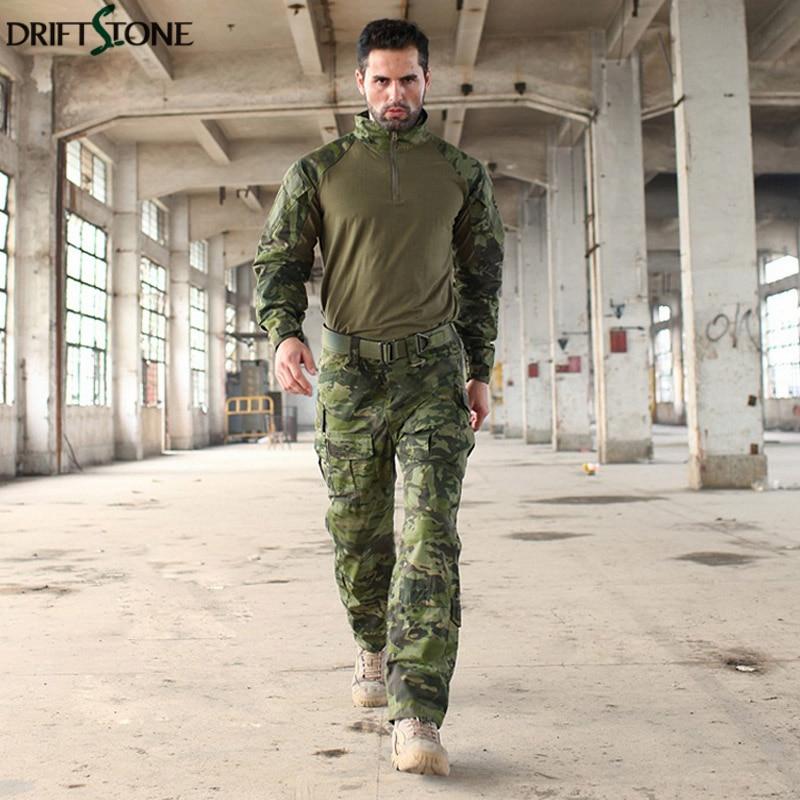 Uniforme militar MTP entrenamiento G3 trajes camuflaje táctico Multicam Rana trajes ejército Airsoft camisa de combate y pantalones de carga - 5
