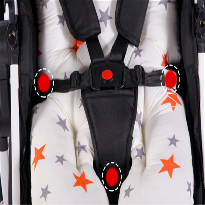 แฟชั่นพิมพ์เด็กรถเข็นเด็ก Pad Thicken Warm เบาะรถที่นั่งรถเข็นเก้าอี้เบาะ Pad ที่นอนหมอน