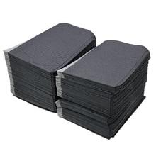 125 unidades/pacote toalhetes descartáveis da tatuagem, lenço preto, piercing de limpeza, à prova d água, acessórios para tatuagem dental