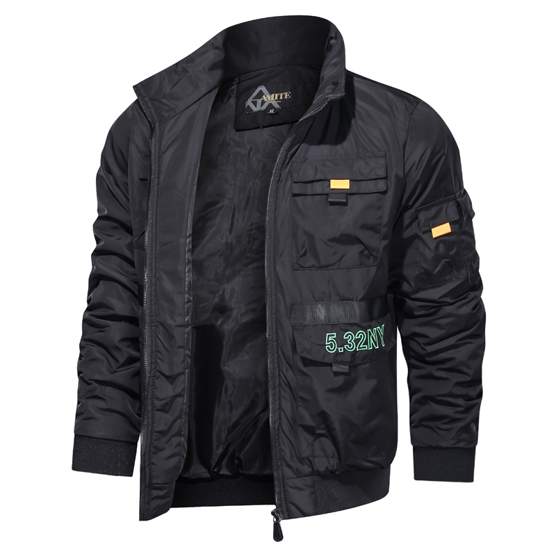 New 2020 Autumn Jacket Men Stand Collar Urban Leisure Solid Color Autumn Mens Jacket Business Casual Zipper Jacket Coat Men