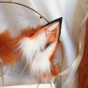 Image 4 - MMGGใหม่Golden Red Foxหูหมาป่าและแมวฟ็อกซ์หูผมHoop Headwearหางสำหรับสาวผู้หญิงคุณภาพสูง