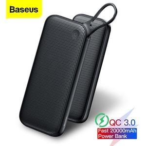 Baseus 20000 мАч Quick Charge 3,0 Power Bank для Xiaomi Mi 20000 мАч USB C PD быстрое портативное Внешнее зарядное устройство Powerbank