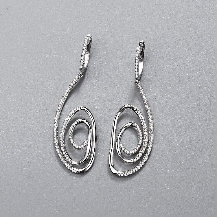 CMajor dernière S925 en argent Sterling importé 7A cubique Zircon Style européen et américain Simple mode boucles d'oreilles pour les femmes
