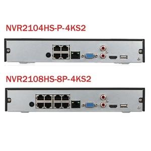 Image 2 - Dahua NVR2104HS P 4KS2 NVR2108HS 8P 4KS2 4CH 8CH POE NVR 4K Recorder Unterstützung HDD 4/8CH POE Für CCTV System Sicherheit kit.