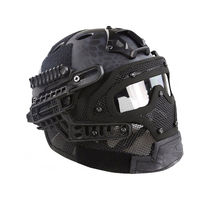 Tactical G4 System Fast Helmet PJ Type Full Face Protective PC Lens Steel Mesh Wargame Combat Wargame Paintball Accessories