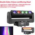 300 Вт двухсторонний 5 глаз светодиодный светильник с движущейся головкой 5x40 Вт RGBW 4в1 250x0 2 Вт RGB Стробоскоп DMX стробоскоп с эффектом вращения XY ...