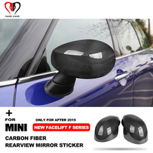 For Mini Copper One S JCW Countryman Clubman F54 F55 F56 F60 F After 2019 Real Carbon Fiber Rearview Mirror Cover Shell Sticker