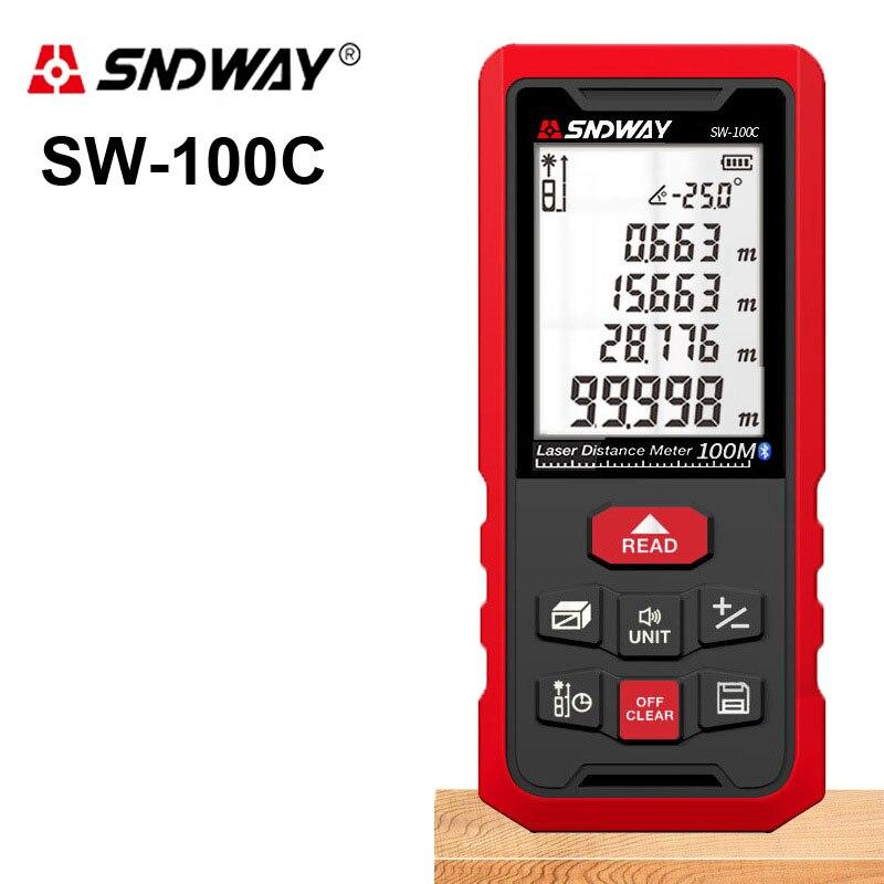 SNDWAY 50M 70M 100M 120M laser-entfernungsmesser Digital laser-distanzmessgerät laser-entfernungsmesser Band ultraschall-entfernungsmesser herrscher Bluetooth