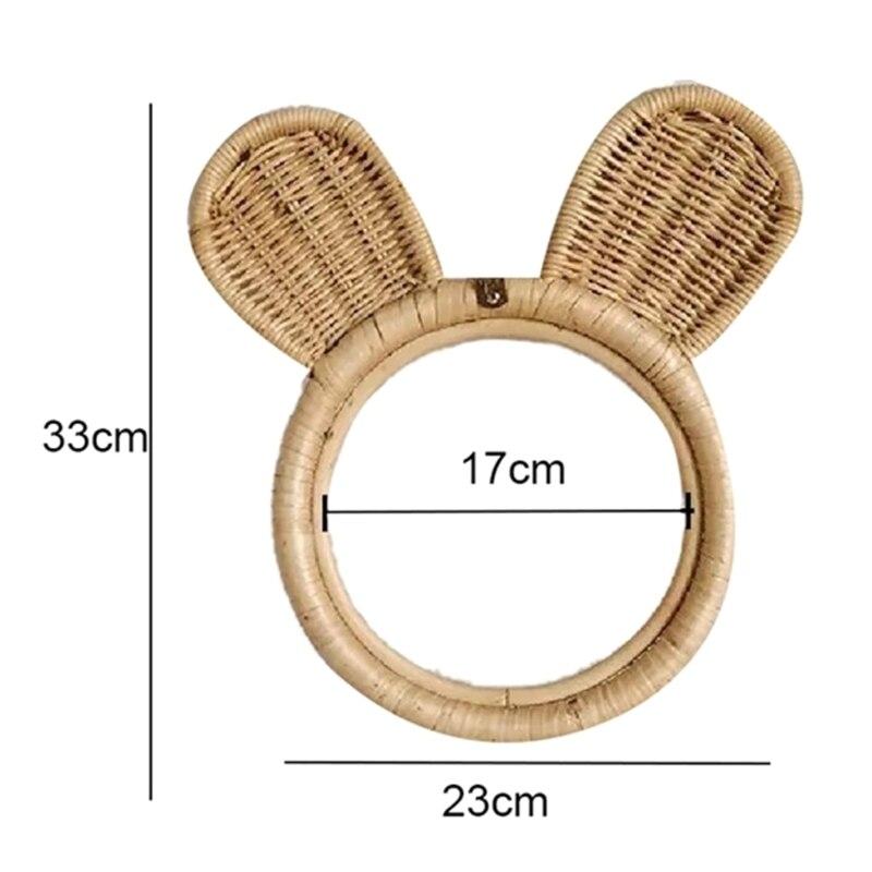 Rattan arte decoração do macaco orelhas de