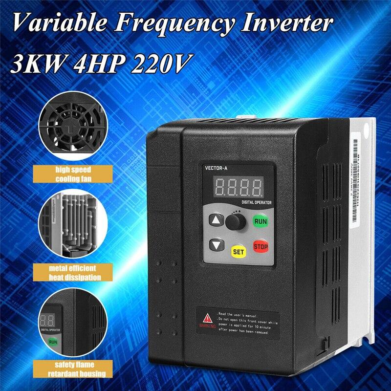Dreamburgh 3KW 4HP 220V 13A 1 do 3 fazy zmienna częstotliwość silnik falownika napęd VSD VFD dla silnika kontrola prędkości konwerter 2020