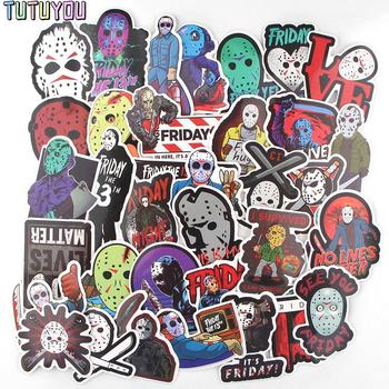 PC2111 36pcs/set Horror Movie Friday The 13th Scrapbooking Stickers Decal For Guitar Laptop Luggage Car Fridge Graffiti Sticker blinghero horror ghost stickers 37pcs set waterproof scrapbooking sticker laptop luggage guitar bicycle sticker decal bh0583