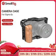 Клетка SmallRig с деревянной рукояткой для камеры SIGMA fp, клетка с креплением для холодного башмака, клетка для видеосъемки, комплект 2518