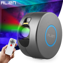ALIEN RGB Starry Star Galaxy Night Light Projector Stage Laser Lighting Effect Bedrooms Kids Room Party Holiday Wedding Lights