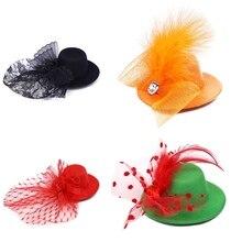 Pet шапка Санты Клауса собака кошка миловидный зажим для волос Кружева Принцесса Корона Свадьба День рождения Декорации для фотографии товары для домашних животных подарок
