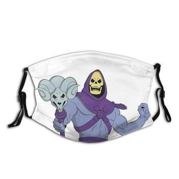 Skeletor Reusable Face Mask HeMan and the Masters of the Universe Anti Haze Mask With Filters Protection Cover Respirator Muffle image