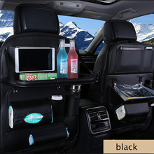 Sac de rangement multifonctionnel pour siège de voiture universel, poche de voiture, sac de rangement en cuir Pu