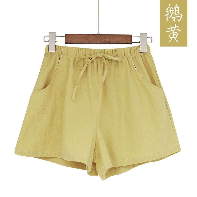 New Hot Summer Casual Cotton Linen Shorts Women Plus Size High Waist Shorts Fashion Short Pants  Streetwear Women's Shorts 6