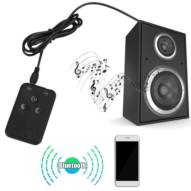3.5mm ses kablosuz Bluetooth 4.2 verici alıcı 2 in 1 ses TV için araba hoparlörü müzik adaptörü Stereo