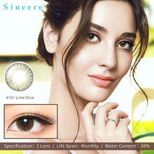 Sincere vision Brand colored eye lenses Monthly 0-900 contact lenses degrees Wholesale Colored Contact Lens Soft Colored