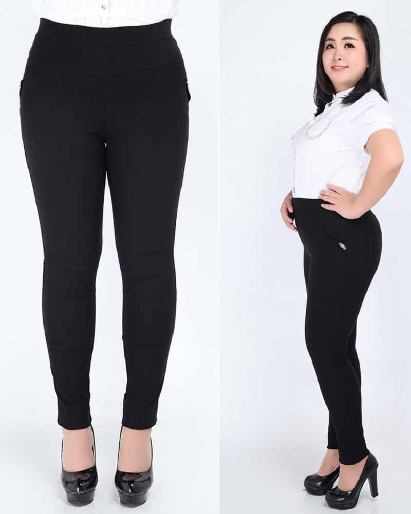 2020 Spring Summer Women Trousers High Waist Large Size 2XL-6XL Ladies Pencil Pants Slim Femme Pants Pantalon Large Femme Capri