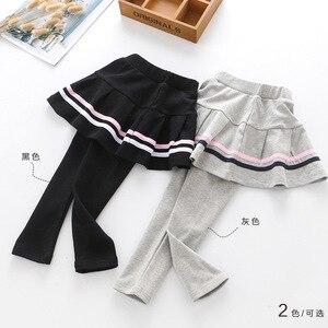Image 4 - 3 4 5 6 7 שנים בנות מכנסיים אביב סתיו קוריאני חצאית חותלות מזויף שני חתיכות מכנסי חצאית הגעה חדשה לפעוטות תינוק מכנסיים חדש