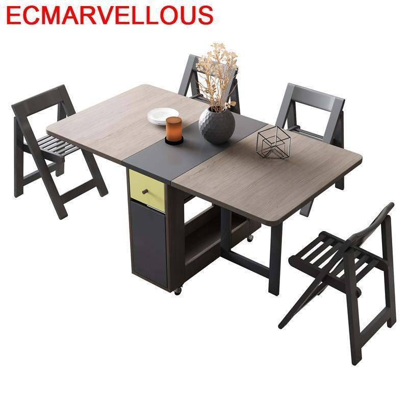 Esstisch Room Tablo Redonda Ouro Tavolo Pieghevole Dinning Set Yemek Masasi De Jantar Mesa Plegable Desk Folding Dining Table