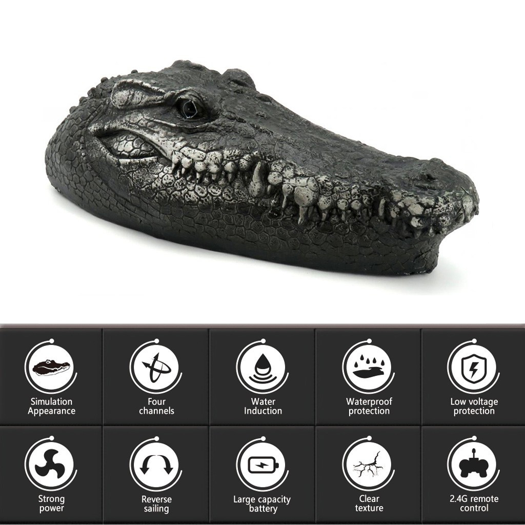 cabeça de crocodilo rc controle remoto elétrico