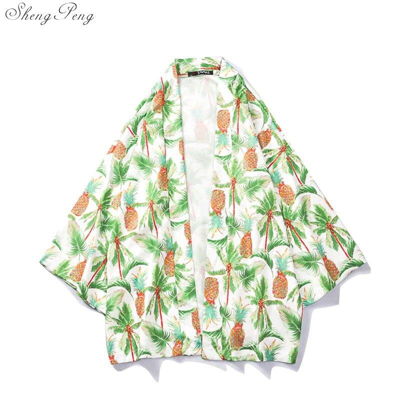 Men Outerwear Harajuku Kimono Cardigan Coats Lovers Individuality Print Tops Fashion Loose Jacket Yukata Coat Baggy Blouse V1648