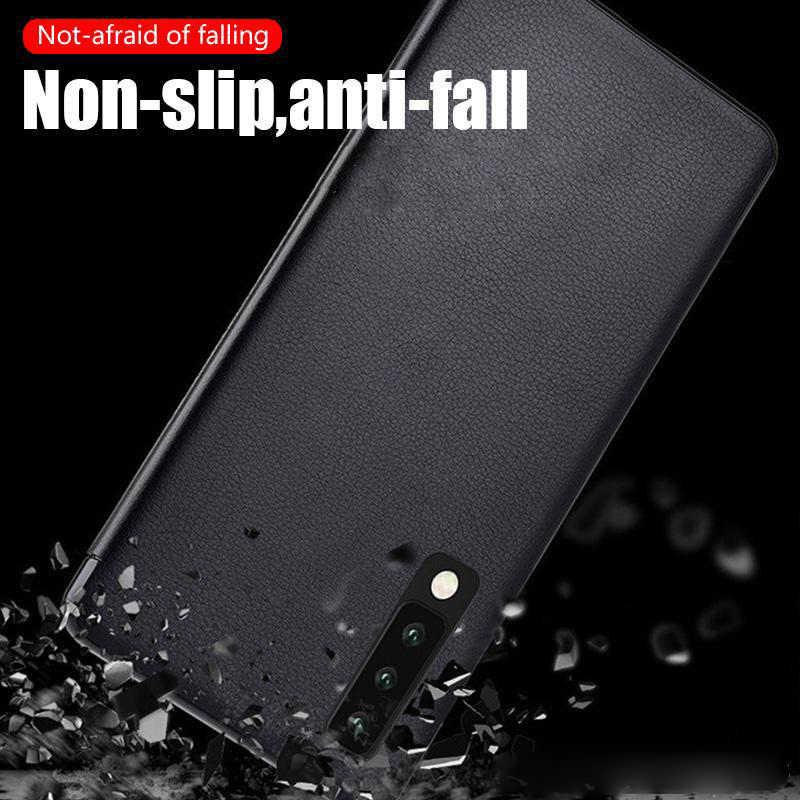 Coque de téléphone en cuir avec vue sur la fenêtre latérale intelligente pour Huawei P10 P20 P30 P40 Mate 10 20 30 Honor 8x9 10 étui de protection à ...