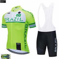 Brasilien TEAM 2019 RADFAHREN JERSEY 20D Bike Shorts Set Ropa Ciclismo Herren Sommer Quick Dry Pro Fahrrad Maillot Hosen Kleidung