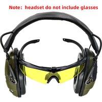 Proteção auditiva anti-ruído da amplificação dos earmuffs do tiro eletrônico tático fone de ouvido sightlines almofadas da orelha