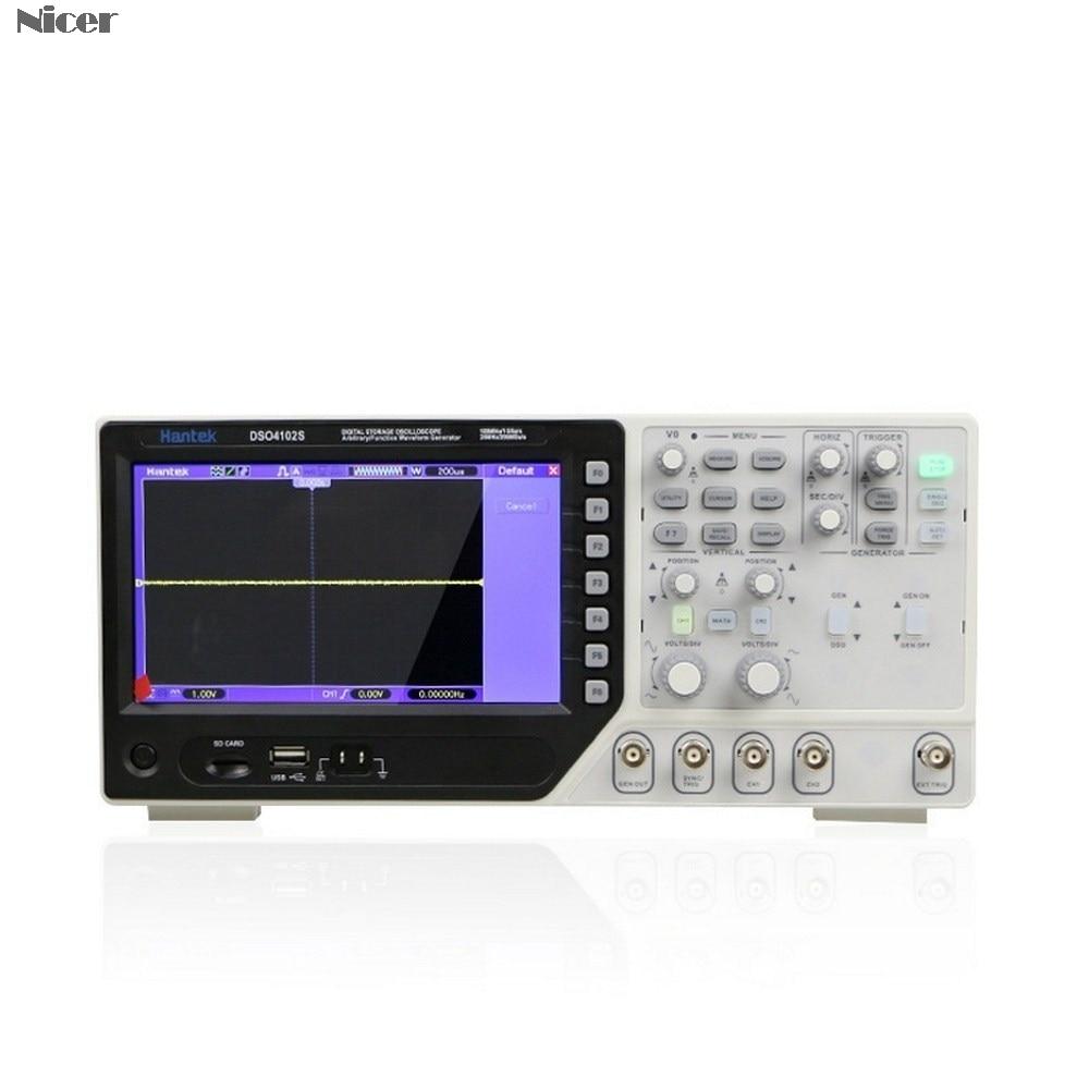 Hantek 2 In 1 Digital Multimeter Oscilloscope 2CH 1GSa+25M Function Waveform Generator DSO4072S DSO4102S DSO4202S 70MHz-200MHz