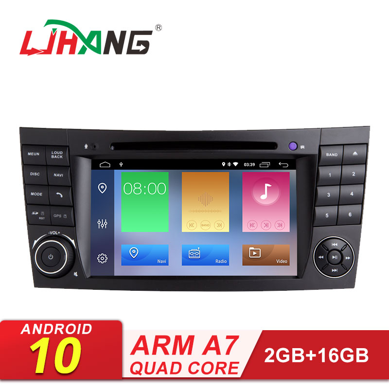 LJHANG 2 דין אנדרואיד 10 רכב נגן DVD עבור מרצדס בנץ e-class W211 E200 E220 E300 E350 E240 e270 E280 CLS CLASS W219 אוטומטי RDS