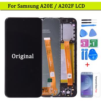 Oryginalny do Samsung Galaxy A20e wyświetlacz LCD ekran dotykowy Digitizer zgromadzenie A202 A202F wymienić na SAMSUNG A20e ekran LCD tanie i dobre opinie NONE CN (pochodzenie) Ekran pojemnościowy 1280x800 3 For Samsung Galaxy A20e LCD i ekran dotykowy Digitizer Black Test one by one