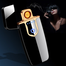 2019 New Touch Screen Usb Charging Lighter Electronic Cigarette Lighters Small Rechargeable Electric Windproof