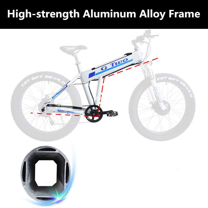 26 Inch Frame of Electric Bicycle, High Strength Aluminium Alloy Frame For Mountain Bike Snow Bike