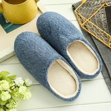 Soft Plush Home Slippers Men Indoor Cotton Shoes Big Size Winter Casual Sneakers For Man Floor Warm Furry Slipper Nov21(China)