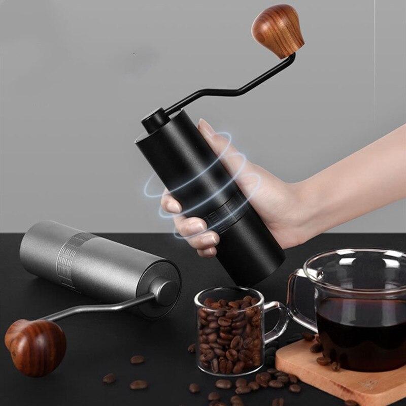 Manual Coffee Grinder Coffee Maker High Nitrogen Steel Grinding Core 304 Stainless Steel Hand Burr Mill Grinder Coffee Machine
