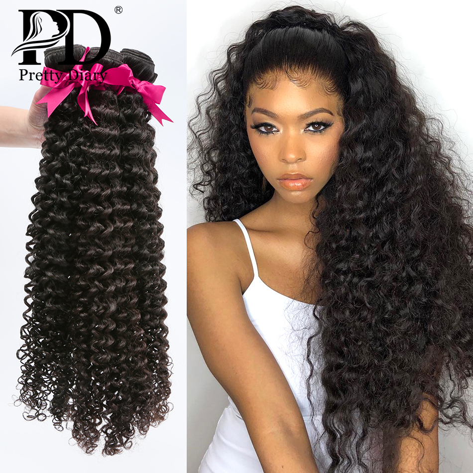 Mongolian Hair Weave Bundles Kinky Curly 100% Human Hair 28 30 Inch Single 3/4 Bundles Natural Color Remy Hair Curly Bundles