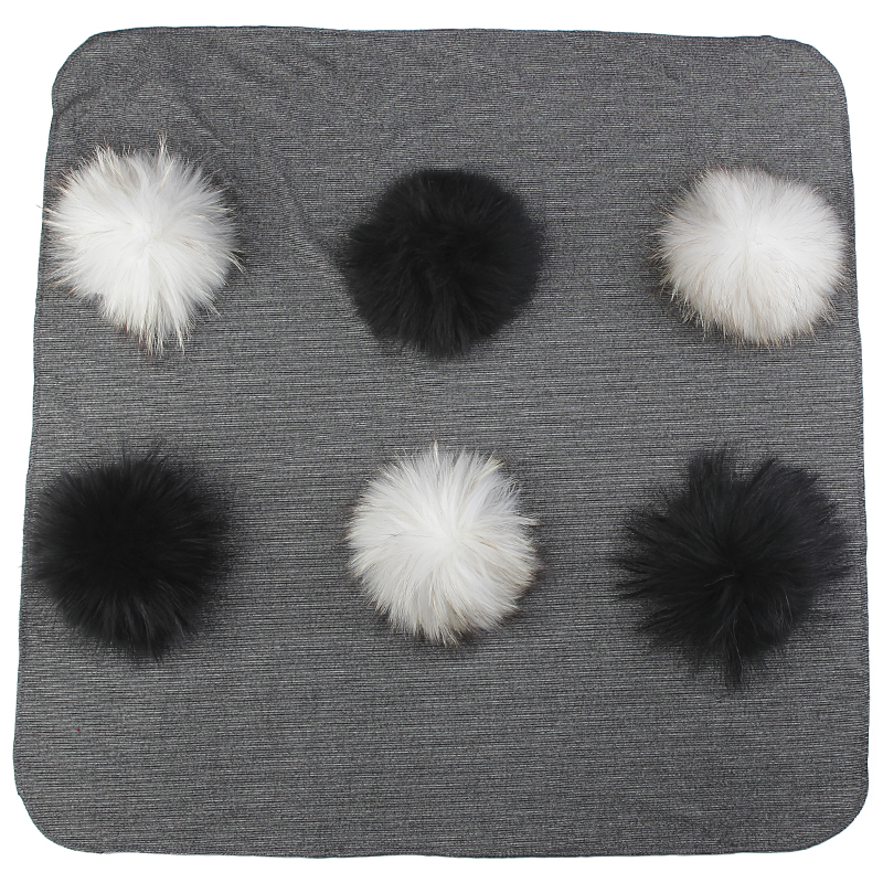 Warm Cotton Swaddling Blanket Newborn Kids Baby Travel Sleeping Blanket With Real Fur Pompom Solid Color Bedding Swaddles Wrap