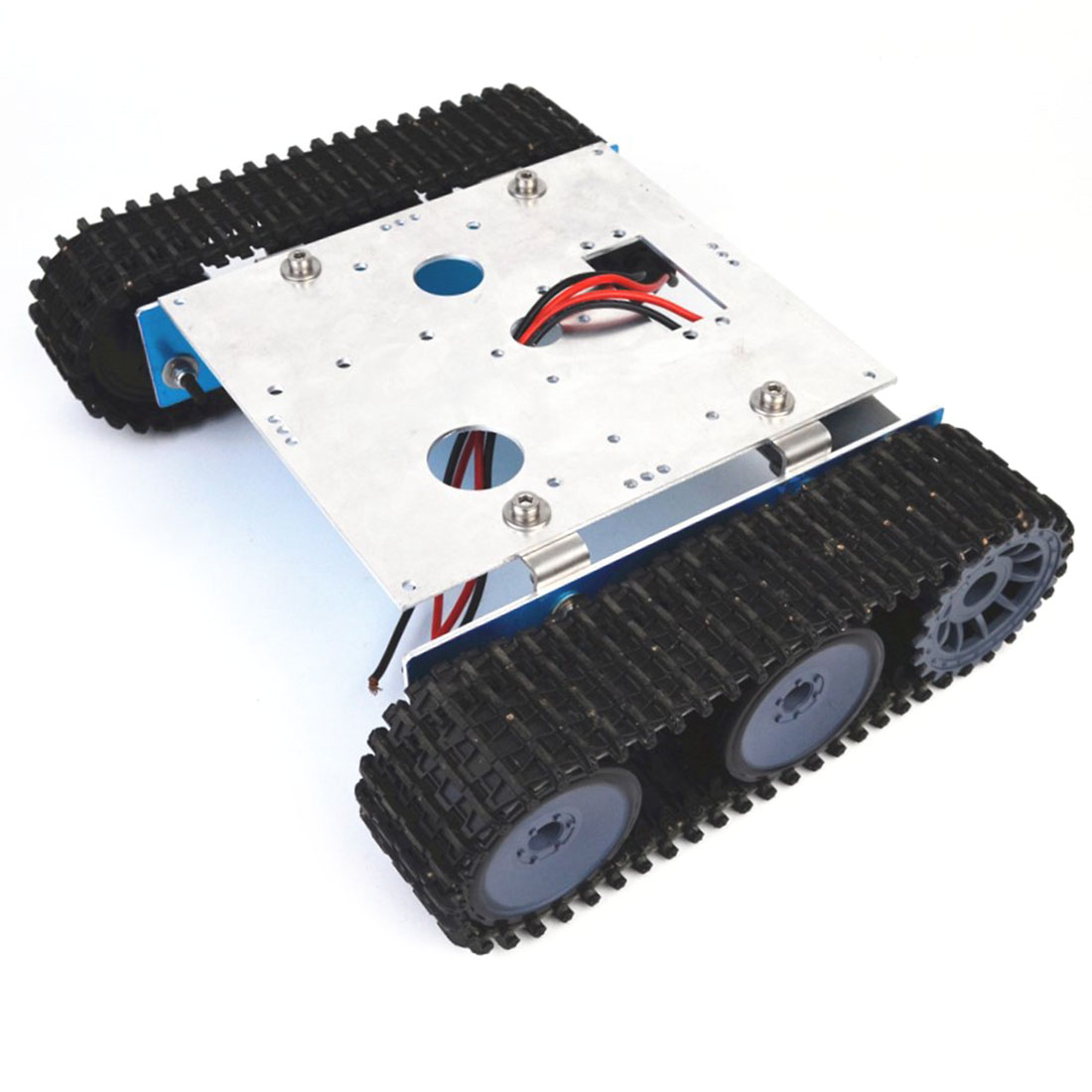 DIY Aluminium Alloy Tank Robot Caterpillar Vehicle Platform Chassis Assembly Kit For Arduino Kids Birthdaty Gifts