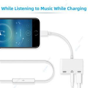 Image 5 - 3 in 1 Caricatore Audio Adattatore Per Cuffie Per iPhone X 8 Più di 7 6 Adattatore Del Telefono Cellulare Con 3.5mm jack Audio Splitter Adapter