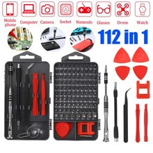 112 in 1 Precision Screwdriver Set DIY Repair Tools Kit Fixing iPhones Laptop MacBook Glasses Small Screwdriver Kit with Case